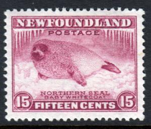 Newfoundland GV 1932 15c Claret SG217 Mint Hinged