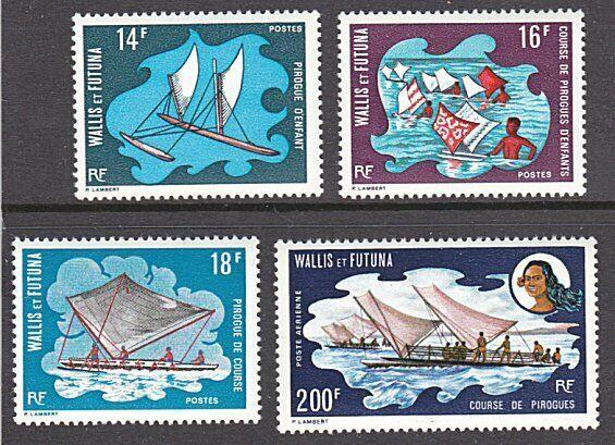 WALLIS & FUTUNA 1972 Sailing Canoes set of 4 MNH...........................55103