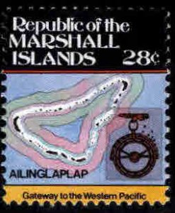 Marshall Islands Scott 43 MNH** 28c Map stamp