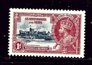 St Kitts-Nevis 72 MLH 1935 From KGV Silver Jubilee set