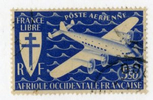 FRENCH WEST AFRICA C1 USED BIN $1.00 AIRPLANE