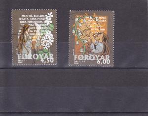 Faroe Islands  Scott#  387-8  Used