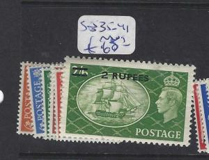 BRITISH PO IN EASTERN ARABIA (P2402B) MUSCAT ON GB KGVI SG 35-41  MOG