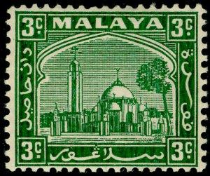 MALAYSIA - Selangor SG71, 3c green, VLH MINT.