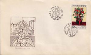 Czechoslovakia, First Day Cover, Art, Flowers
