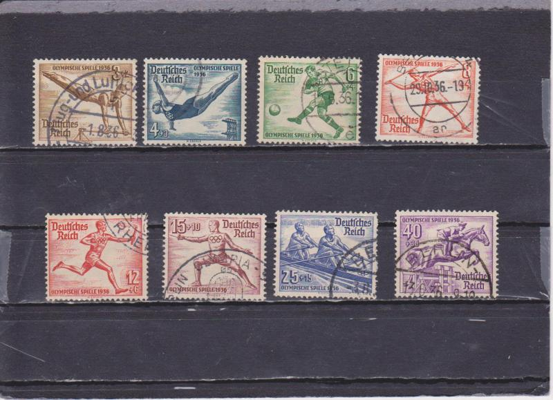 Germany B82-89 used (Great Cancels) 2616-4 HS@@