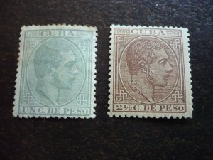 Stamps - Cuba - Scott# 100,102,104 - Mint Hinged Partial Set of 3 Stamps