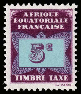 French Equatorial Africa - Scott J1 - Mint-Never-Hinged