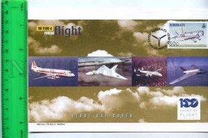 242117 KIRIBATI 100 years of FLIGHT PLANES 2003 year FDC