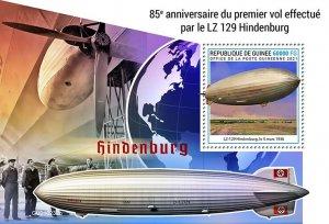 GUINEA - 2021 - LZ-129 Hindenburg - Perf Souv Sheet - Mint Never Hinged