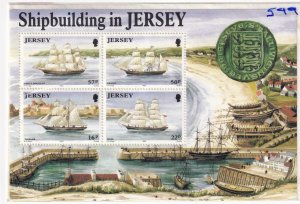 JERSEY SHIPBUILDING AND FESTIVAL OF TOURISM S/SHEETS MNH PO FRESH
