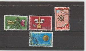 Switzerland  Scott#  347-350  Used  (1954)