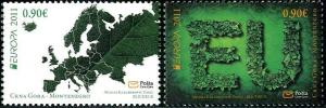 HERRICKSTAMP MONTENEGRO Sc.# 276-77 Europa 2011 Forests