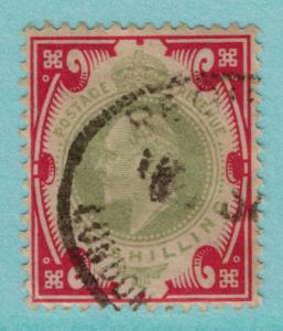 Great Britain Scott #138, Used, One Shilling King Edward VII Issue, From 1902...