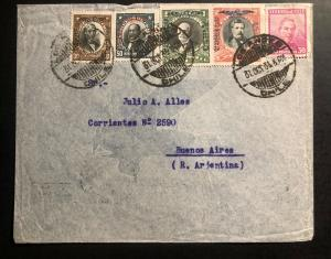 1934 Los Andes PO Chile Airmail Cover to Buenos Aires Argentina