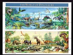 US 3136,  Sheet of 15, VF, MNH, World of Dinosaurs, CV $10.00 ..... 6785996