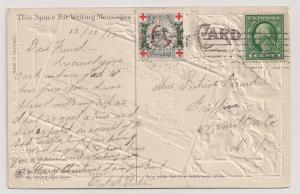 1912 Christmas Seal tied to ppc clean & attractive card WX10