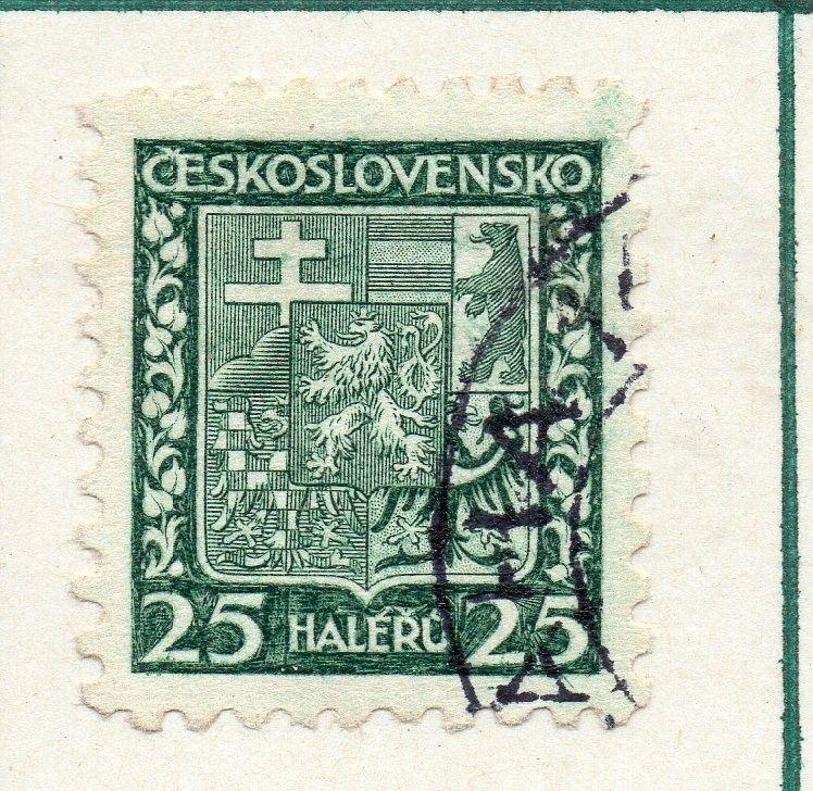 Czechoslovakia 1929 Early Issue Fine Used 25h. 230262
