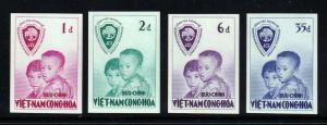 South Viet Nam - 1956 - SC 59 - 62 - Imperf - MNH - Rare!!!