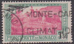 Monaco 2015 Scott #C1 Used Cat. US$25.00 1933 Airmail Stamp - VF