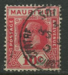 Mauritius - Scott 187 - KGV Definitives -1922 - Used - Single 10c Stamp