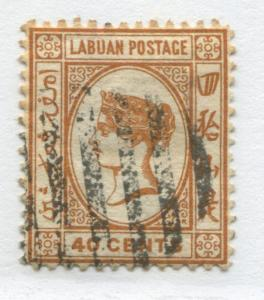 Labuan QV 1892 40 cents ocher used