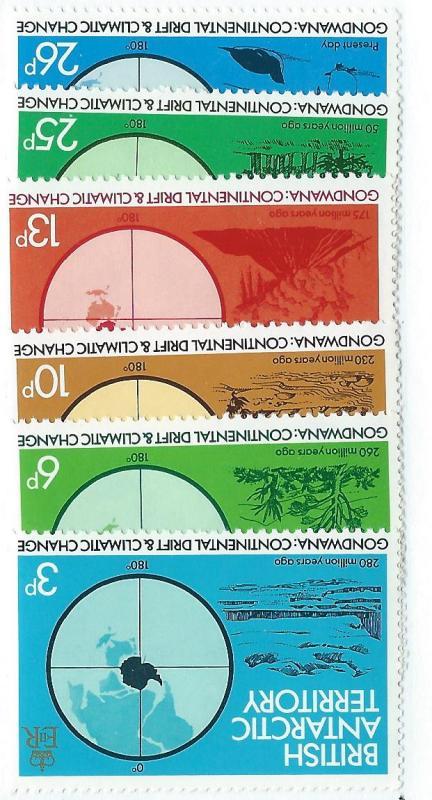 British Antarctic Territory  #86-91 Maps (MNH) CV $2.80