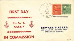 1939, USS Saury, SS-189, 1st Day Commission (N5234)