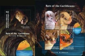 Grenada Grenadines 2017 bats fauna klb+s/s MNH