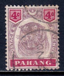 Malaya (Pahang) - Scott #14A - Used - Wrinkling, possible CTO - SCV $14.50