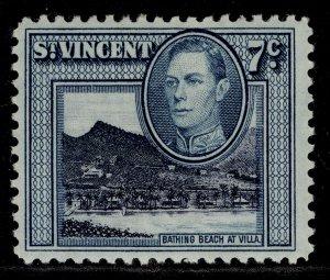 ST. VINCENT GVI SG170, 7c blue-black & blue-green, M MINT.