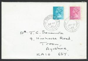 GB 1972 cover UP SPECIAL TPO railway cds...................................50610
