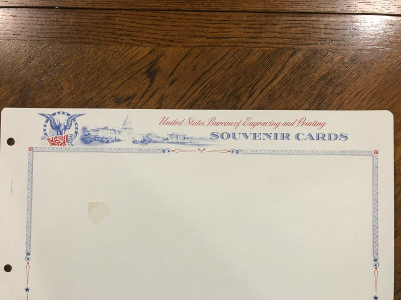 200 Vintage White Ace Souvenir Card Blank Pages for Long Binders, Used