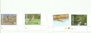 COOK ISLANDS 2017 CURLEW BIRDS WWF MNH