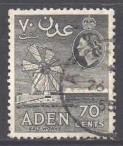 Aden Scott 54 - SG61, 1954 Elizabeth II 70c used