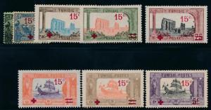 TUNISIA B12-B19 MINT LH SEMI POSTALS
