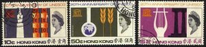 Hong Kong SG239/41 UNESCO Set of 3 Fine Used Cat 20 pounds