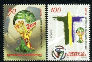 175 - MACEDONIA 2014 - FIFA - World Cup Brasil - Football - Soccer - MNH Set