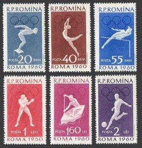 Romania 1331-1336,1337-1338,MNH.Michel 1847-1852,Bl.46-47. Olympics Rome-1960.
