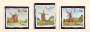 Aland Finland Sc 188-90 2001 Windmills stamp set mint NH