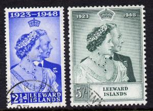 Leeward Islands 1949 KG6 Royal Silver Wedding set of 2 cd...