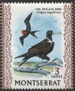 MONTSERRAT 1970  Sc 233  MNH, VF, 3c Frigate Bird