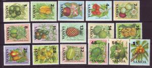 J19672 Jlstamps 1983-4 samoa short set mnh #600-15 ovpt,s