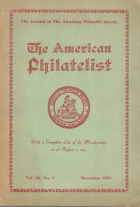 The American Philatelist, Dec. 1952, with a Complete List of the 1952 Membership