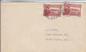 1938, Australia Used in Fiji to Santa Clara, CA (29101)
