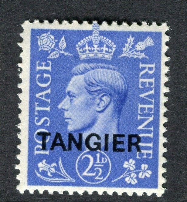 MOROCCO AGENCIES TANGIER;  1949 GVI Optd. issue fine Mint hinged 2.5d. value
