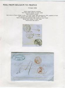 FRANCE Early Incoming LETTER/COVER 1856 fine used item Gand - Reims