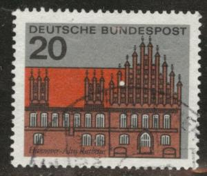 Germany Scott 869 Used 1964 Hanover town hall