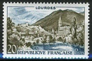 France 1958, 20 Fr Landscapes Lourdes VF MNH, Mi 1186