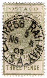 (I.B) Australia Postal : South Australia 3d (SG 268) Express Railway